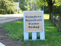 grinders baseball game today. august 2019 (timp37) Tags: sign baseball grinders game today august 2019 indiana