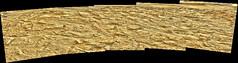 Rocks with a Little Sky, variant (sjrankin) Tags: 8august2019 edited panorama nasa mars curiosity msl galecrater rocks sand dust sky haze