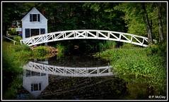 Somesville Footbridge (pandt) Tags: somesville footbridge reflection water bridge house selectmen outdoor maine flickr beauty gardens trees stream canon eos slr 6d