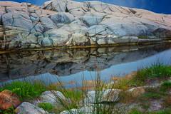 Refection (Tarq Photography) Tags: rock water formation granite leaves sky nova scotia coastal region reflection