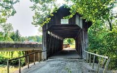 Ringos Mill Covered Bridge - Hillsboro, Kentucky (oscarpetefan) Tags: oscarpetefan kentucky hillsboro travel coveredbridge tonemapped hdr filmsimulation kodakektachromee100g dxo11 photomatix on1pics on1photoraw olympus omdem5ii microfourthirds zuiko 1240mmf28 ringosmillcoveredbridge