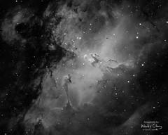 Eagle Nebula and the Pillars of Creation in Ha (theordinaryphotographer) Tags: eagle nebula eaglenebula ha hydrogen hydrogenalpha messier 16 messier16 ngc6611