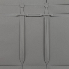 Dwa miecze / Two Swords (origami) (Michał Kosmulski) Tags: origami tessellation paperfolding papiroflexia paperart miecz sword weapon medieval średniowiecze militaria art sztuka history historia paper papier grunwald combat battle bitwa 1410 michałkosmulski tantpaper grey gray