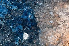 Heaven and Earth (trochford) Tags: heaven earth moons planets stars abstract artistic texture blue ocher tan closeup southend boston bostonma ma massachusetts usa us unitedstates canon canon6d ef100mmf28lmacro ef100mmf28l