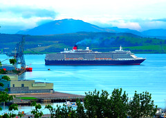 Scotland Greenock arriving in port from Iceland the cruise ship Queen Victoria 8 August 2019 by Anne MacKay (Anne MacKay images of interest & wonder) Tags: scotland greenock port iceland cruise ship queen victoria 8 august 2019 picture by anne mackay