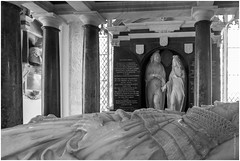 Monuments (FlickrDelusions) Tags: sculpture baptisthicks church chippingcampden stjames monument gloucestershire bw blackandwhite