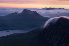 Scotch Mist (Andrew G Robertson) Tags: assynt sgurr an fhidhleir stac pollaidh suilven cul mor dawn sunrise inversion cloud scotland highlands mist coigach