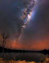 Milky Way at Beverley, Western Australia (inefekt69) Tags: milky way dead trees lake reflections panorama stitched mosaic ms ice cosmology southern hemisphere cosmos western australia dslr long exposure rural night photography nikon stars astronomy space galaxy astrophotography outdoor core great rift ancient sky 35mm d5500 landscape nikkor prime beverley wheatbelt ioptron skytracker explore explored