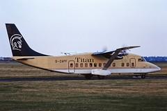 G-ZAPF Short 360 Titan CVT 28-06-94 (cvtperson) Tags: gzapf short 360 titan coventry airport cvt egbe