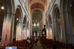The cathedral, Quimper, France (Thibault Gaulain) Tags: bretagne brittany france nikon d7200 tamron 100 400 100400 summer été inside indoor arch arches cathedral quimper religion christian