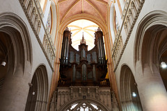 The cathedral, Quimper, France (Thibault Gaulain) Tags: bretagne brittany france nikon d7200 tamron 100 400 100400 summer été inside indoor arch arches cathedral quimper religion christian organ music