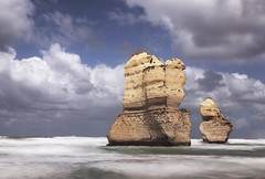 2 out of 12 II (Bernd Schunack) Tags: 12 twelve apostles rock formation clouds great ocean road australia port campbell national park victoria long exposure le shot nd filter water pacific surf seascape tourist attraction lumix gx9 cliff