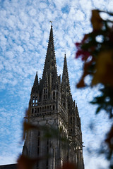 The cathedral, Quimper, France (Thibault Gaulain) Tags: bretagne brittany france nikon d7200 tamron 100 400 100400 summer été quimper ville city old cathedral outdoor outside building architecture religion christian
