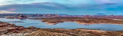 Lake Powell Panorama - Page, Arizona (David Hamments) Tags: arizona page sunset lakepowell glencanyonnationalpark fantasticnature