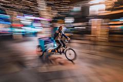 Bike Taxi in Denver (ashercurri) Tags: denver 16th street mall bike motion blur wide angle sony a7ii colorado co urban