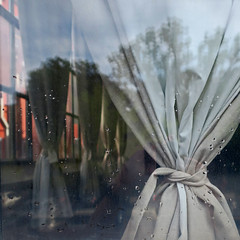 cafe curtain (Jim_ATL) Tags: atlanta window cafe dof curtain raindrop moody atmospheric