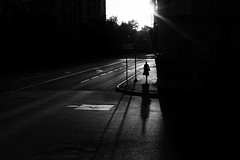 (_storysofar_) Tags: streetphotography people silhouette shadow sun sunset light road buildings blackandwhite monochrome moscow russia fujifilm