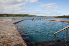 Vök Baths, a new development of geothermal baths in Iceland, opened 27 July 2019 on the shores of Lake Urriðavatn, near the city of Egilsstaðir in East Iceland. This region has no other geothermal baths so the creation of Vök Baths on the site of natural (Anna Watson) Tags: vökbaths new development geothermalbaths iceland shores lakeurriðavatn egilsstaðir easticeland natural hotsprings lake touristattraction pools woodenwalkways float basaltarchitects designgroupitalia swim bathe swimming outdoor nature landscape bathing hottub hotwater springwater lakewater purity pure clean healthy relaxation relaxing relax spa vokbaths wood walkways environment ecology ecological sustainable environmentallyfriendly renewableenergy geothermalenergy geothermalheat renewables pool swimmingpool floating floats swimmngpools hotspring turfroof