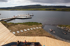 Vök Baths, a new development of geothermal baths in Iceland, opened 27 July 2019 on the shores of Lake Urriðavatn, near the city of Egilsstaðir in East Iceland. This region has no other geothermal baths so the creation of Vök Baths on the site of natural (Anna Watson) Tags: new development geothermalbaths vökbaths wood lake nature swimming swim relax landscape hotwater iceland healthy natural outdoor relaxing clean pools hottub bathe bathing float relaxation shores pure spa touristattraction hotsprings springwater lakewater purity egilsstaðir easticeland designgroupitalia woodenwalkways basaltarchitects lakeurriðavatn vokbaths ecology pool floating swimmingpool environment walkways hotspring floats sustainable ecological renewableenergy environmentallyfriendly renewables geothermalenergy turfroof geothermalheat swimmngpools