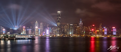 Cyberpunk 2019 (TVZ Photography) Tags: hdr highdynamicrange symphonyoflights lightshow hongkong hongkongisland panorama panoramic towers city cityscape skyline water reflection night evening longexposure lowlight sonya7riii sony 1635mm sel1635gm
