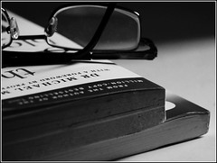The art of sleeping: read a book or meditate (georgetan_chapter2) Tags: blackandwhite bw book macro