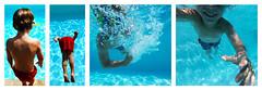 The great dive ... (Le.Patou) Tags: home fz1000 gopro piscine garçon enfant nage nageur plongeon bulle bleu tryptique pool boy child swim swimmer dive dip bubble blue tryptich splish splash plouf