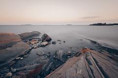 Edge of the World (Bunaro) Tags: helsinki vuosaari skatanniemi skatankärki finland suomi europe summer evening longexposure strand beach coast waterscape rock sunset warm canon rp canonrp