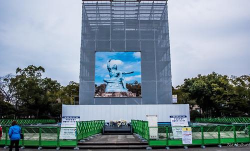 2019 - Japan - Nagasaki - Peace Park - PEACE STATUE