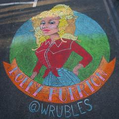 Dolly Purrton (wwimble) Tags: chalktheblock streetart pastels cats kittens dollypurrton jenwrubleski 2017