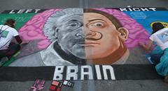 Drawing brains (wwimble) Tags: chalktheblock streetart pastels leftbrain rightbrain alberteinstein salvadoredali math art lindsayblusiewicz cassandrablusiewicz artists drawing righthanded lefthanded 2017
