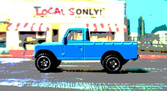 Hot Wheels HW HOT TRUCKS Land Rover Series III Pickup 2018 : Diorama Grand Theft Auto San Andreas Game Blueberry County Locals Only Backdrop Print Out - 18 Of 18 (Kelvin64) Tags: hot wheels hw trucks land rover series iii pickup 2018 diorama grand theft auto san andreas game blueberry county locals only backdrop print out
