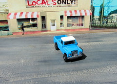 Hot Wheels HW HOT TRUCKS Land Rover Series III Pickup 2018 : Diorama Grand Theft Auto San Andreas Game Blueberry County Locals Only Backdrop Print Out - 9 Of 18 (Kelvin64) Tags: hot wheels hw trucks land rover series iii pickup 2018 diorama grand theft auto san andreas game blueberry county locals only backdrop print out