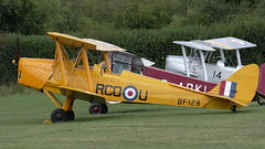 Reg: G-AOJJ, (DF128:RCO-U), 1942, DeHavilland DH82A Tiger Moth (bertie's world) Tags: moth de havilland old warden 2019 aeroplane aircraft reg gaojj df128 rcou 1942 dehavilland dh82a tiger