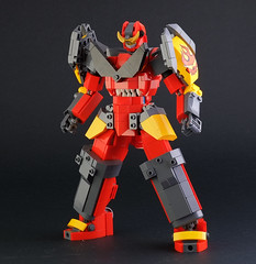 "Lego FA-11 ""Gurren Lagann"" (guitar hero78) Tags: afol lego legomoc legomech gurren lagann mecha super robot fujifilm fujinon xf60mm xe1 toyphotography toys stilllife"