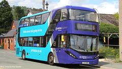 Arriva Wales CX12 BXN 1010 (WY Bus Spotter) Tags: arriva wales cx12bxn 1010 cx12 bxn west yorkshire bus spotter wybs adl alexander dennis limited enviro 400 city e400city e400 enviro400 llangollen wrexham chester sapphire branded branding livery depot