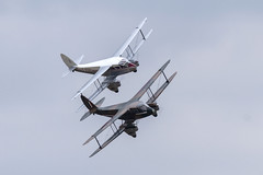 Two DH89 Dragon Rapides (Paul Braham Photography) Tags: historic veteran vintage classic aeroplane airplane aircraft glider fighter trainer biplane monoplane dehavilland antonov druine calidus bucker aeronca