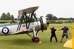 Starting the Avro Tutor (Paul Braham Photography) Tags: historic veteran vintage classic aeroplane airplane aircraft glider fighter trainer biplane monoplane dehavilland antonov druine calidus bucker aeronca