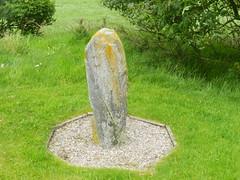 Standing Stone, Kellas, Morayshire, June 2019 (allanmaciver) Tags: standing stone kellas moray trees green condition marks war memorial morayshire allanmaciver