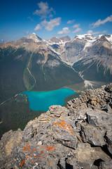 Over the Edge (Darren Umbsaar) Tags: mountain mountains mount peak walcott burgess yoho bc british columbia canada canadian rockies takakkaw lake emerald summit scramble vaux