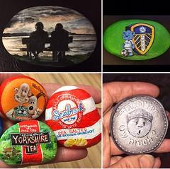 Painted pebbles (Andreadm66) Tags: yorkshiretea wallaceandgromit silhouette lufc painting acrylic art paintedpebble rock pebble