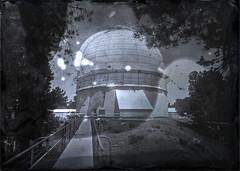 Dry Plate Collodion 1 (Blurmageddon) Tags: senecaimprovedview 5x7 dryplatecollodion glassplate glassnegative largeformat epsonv700 mountwilson alternativeprocess osaka120mmf63 observatory telescope