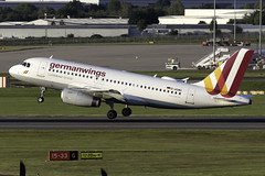 germanwings A319 D-AGWG at Birmingham Airport BHX/EGBB (dan89876) Tags: germanwings eurowings airbus a319 a319132 dagwg birmingham international airport takeoff runway 33 bhx egbb