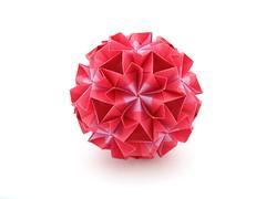 Junia (variation) (ronatka) Tags: kusudama modularorigami nataliaromanenko rectangle rectangle1sqrt3 junia variation pink whitebackground ef50mmf14usm inexplore