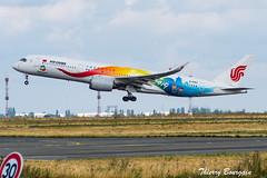 "[CDG] Air-China ""Expo 2019 Beijing"" Airbus A350-900 _ B-1083 (thibou1) Tags: thierrybourgain cdg lfpg spotting aircraft airplane nikon d810 tamron sigma airbus airbusa350 a350 a359 a350900 b1083 takeoff airchina a350941"