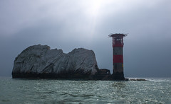 Needles (Earthman.) Tags: theneedles needles isleofwight england seascape landscape earthman x100t sky fuji uk sea lighthouse
