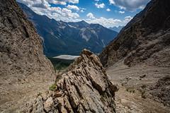 Gully Descent (Darren Umbsaar) Tags: mountain mountains mount peak walcott burgess yoho bc british columbia canada canadian rockies takakkaw lake emerald summit scramble vaux