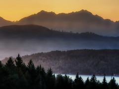 No Boundaries (George Stenberg Photography) Tags: washingtonstate pacificnorthwest hoodcanal sunset mountains mtwashington mtelliinor trees layers