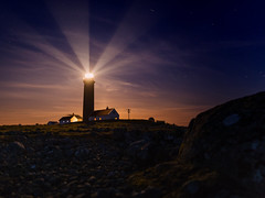 Moonlight (bjorns_photography) Tags: lighthouse moonlight photography clouds rocks rock building view