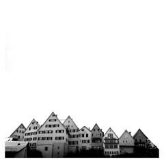 City of Horb on an overcast day (irgendwiejuna) Tags: hasselblad hasselblad500cm medium mediumformat 120 6x6 horb neckar germany 2019 ilford ilfordhp5 ilfordfilm houses architecture oldhouses nopeople winter badenwürttemberg