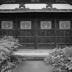 The entrance (lebre.jaime) Tags: japan 日本 kanazawa 金沢市 architecture traditional door entrance traditionalarchitecture japanesetraditionalhouse analogic mf mediumformat film120 6x6 squareformat bw blackwhite noiretblanc nb pretobranco pb kodak tmax100 iso100 hasselblad 503cx planar cf2880 epson v600 affinity affinityphoto